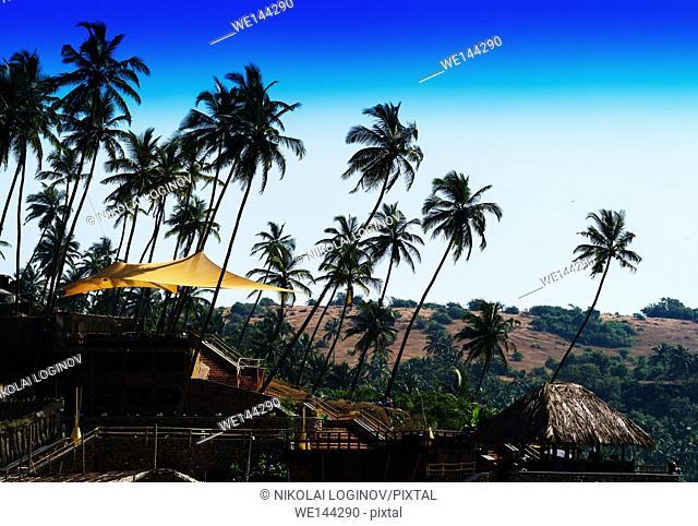 Horizontal classic India travel landscape backdround backdrop