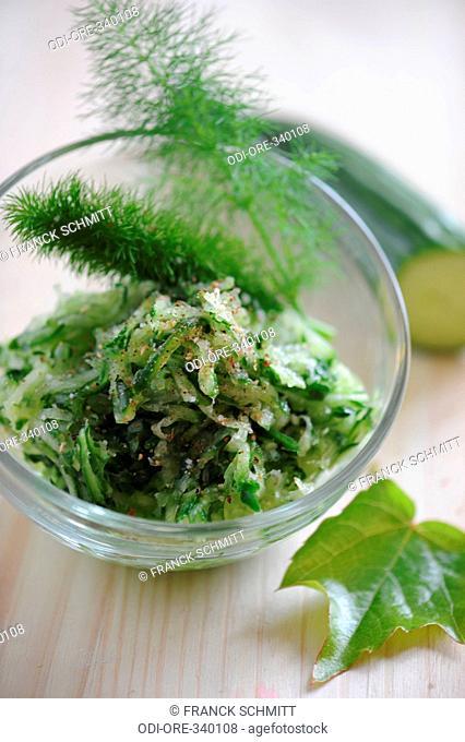 Cucumber and pastis salad