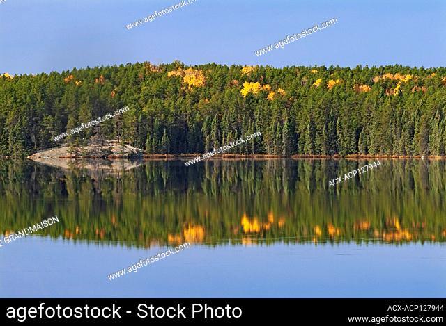 Autumn on Graphic Lake Near Kenora Ontario Canada