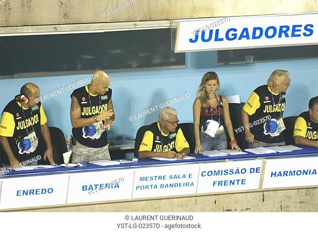 Judging, Carnival 2009, Rio de Janeiro, Brazil