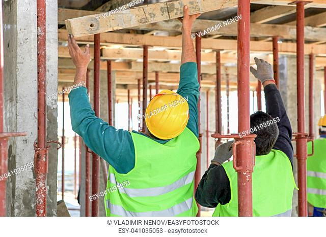 Construction worker on building site