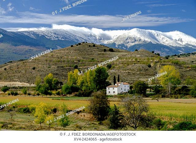 Alcalá de Moncayo, Town hill at Tarazona region. Aragon, Spain, Europe