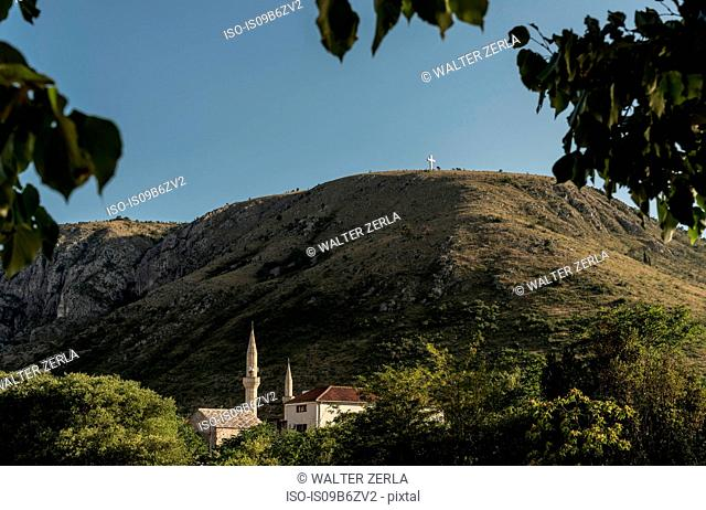 Scenic view, Mostar, Federation of Bosnia and Herzegovina, Bosnia and Herzegovina, Europe