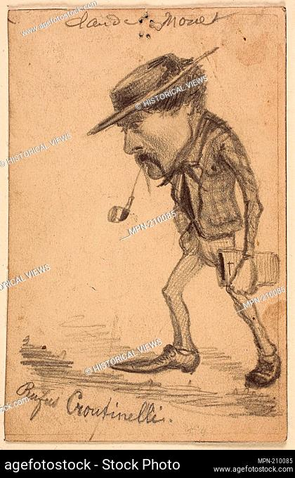 "Caricature of Henri Cassinelli (""Rufus Croutinelli"") - c. 1858 - Claude Monet French, 1840-1926 - Artist: Claude Monet, Origin: France, Date: 1857–1860"