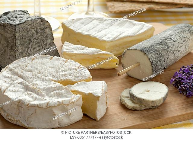 French cheese platter as dessert