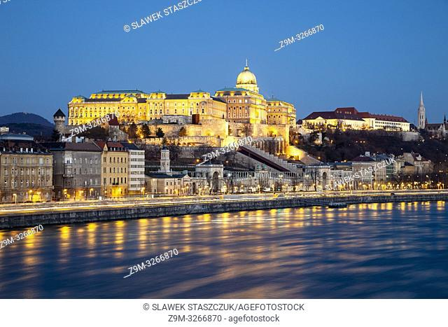 Dawn at Buda Castle in Budapest, Hungary