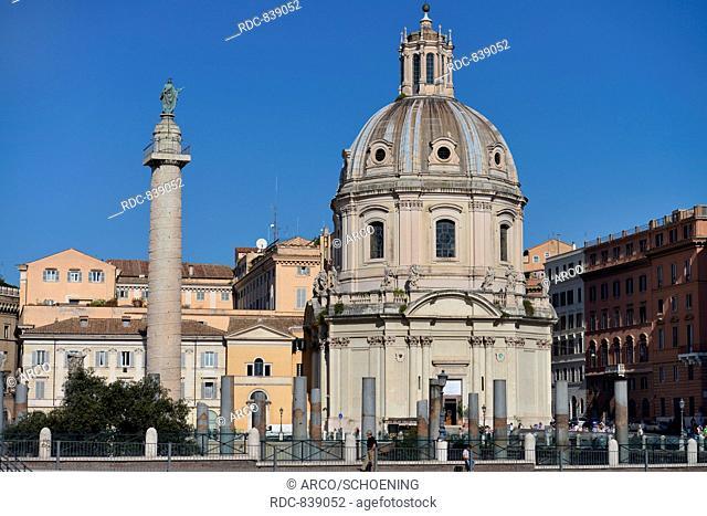 Kirche Santissimo Nome di Maria al Foro Traiano, Trajanssaeule, Trajansforum, Rom, Italien