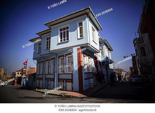 Neighborhoods around the Walls of Constantinople. Istanbul. Turkey