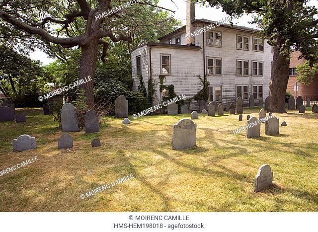United States, Massachusetts, Salem, the burying point 1637 cemetery