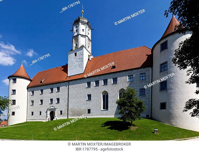 Schloss Hoechstaedt Palace in Hoechstaedt on the Danube, Dillingen, Swabia District, Bavaria, Germany, Europe