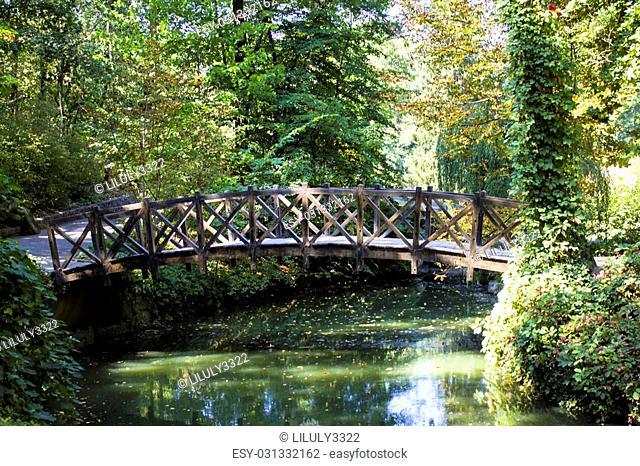 Wood, wooden, outdoor, park, bridge, nature, Sofiyevsky park,peaceful, landscape, green
