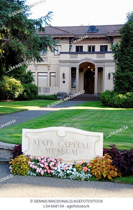 State Capital Museum Olympia Washington WA US United States history historic art culture artifacts documents