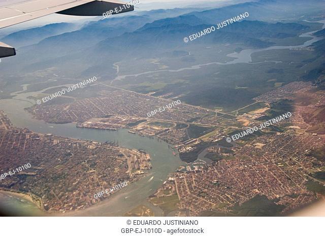 Island of Seen Santa Catarina of Airplane, Florianópolis, Santa Catarina, Brazil