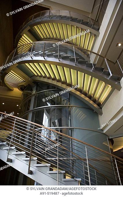 Lobby  Grand Hyatt luxury Hotel in Roppongi  Tokyo  Japan