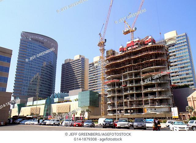 United Arab Emirates, U A E , UAE, Middle East, Dubai, Shiekh Khalifa bin Zayed Road, building, under construction, crane, BurJuman Centre Apartment Tower A