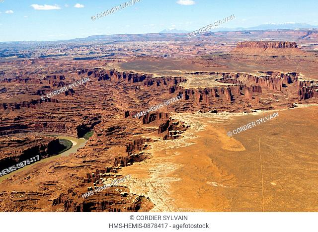 United States, Utah, Dead Horse Point at Canyonland National Park (aerial view)