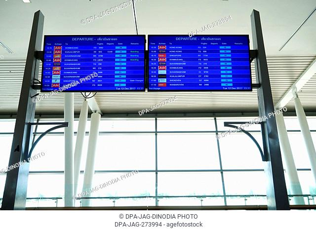 Departure Sign Board, Phuket International Airport, Thailand, Asia