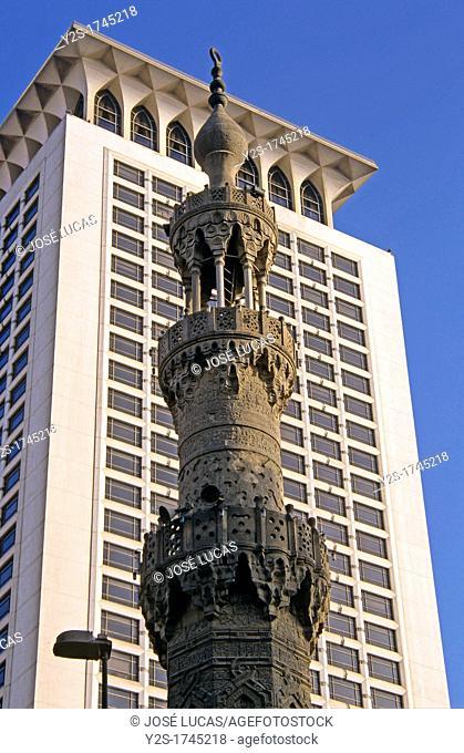 Minaret and skyscraper, Cairo, Egypt