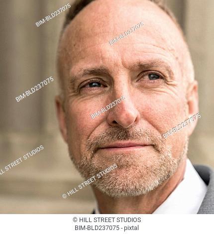 Close up of Face of Caucasian man