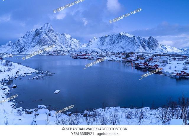 Reine, Moskenesoya, Lofoten, Norland, Norway, Europe