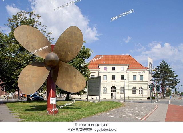 Ship's propeller, maritime casualty investigation board, Bremerhaven, Bremen, Germany, Europe