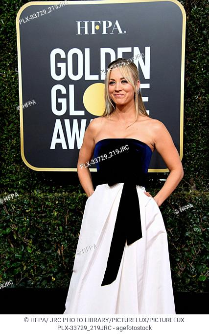 Kaley Cuoco attends the 76th Annual Golden Globe Awards at the Beverly Hilton in Beverly Hills, CA on Sunday, January 6, 2019