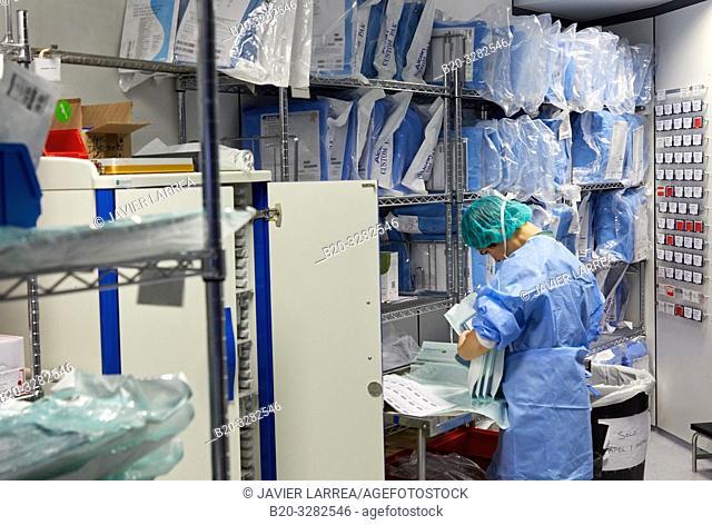 Storage, Operating theater of ophthalmology, Hospital Donostia, San Sebastian, Gipuzkoa, Basque Country, Spain