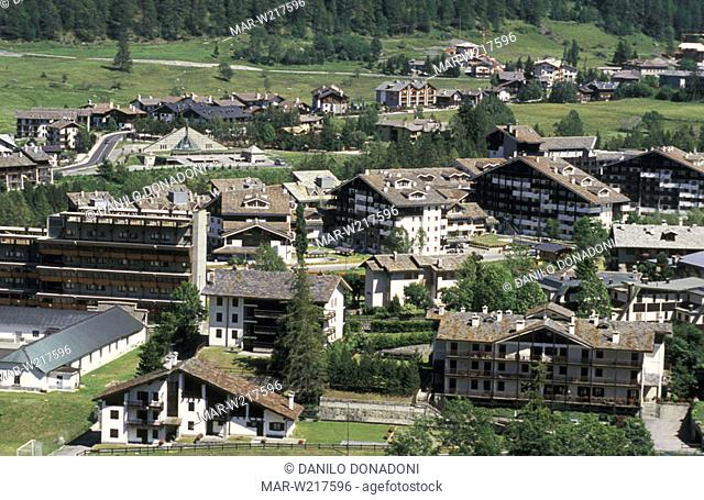 village partial view, la thuile, italy