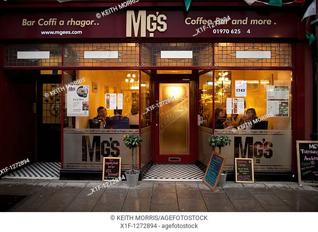 MG's - a small locally owned cafe Aberystwyth Wales UK