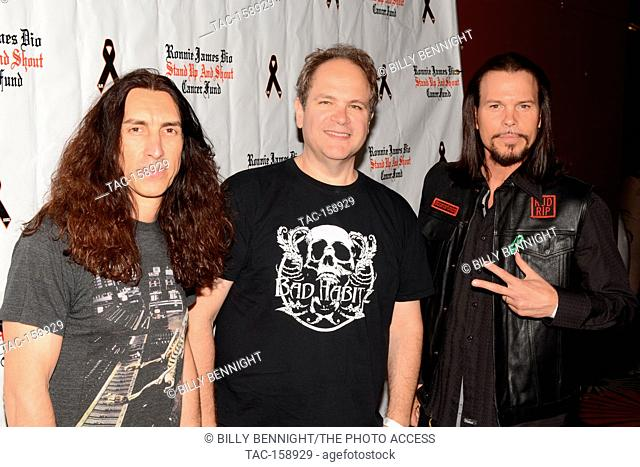 "Brent Woods, Eddie Trunk and Sean McNabb arrives at the 3rd Annual """"Bowl 4 Ronnie"""" Celebrity Bowling Tournament, benefiting the """"Ronnie James Dio Stand Up..."