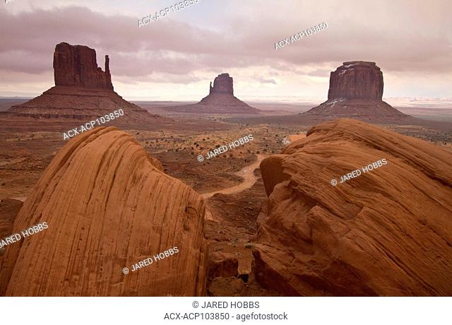 Monument Valley, Mittens, Arizona, Canyonlands, USA
