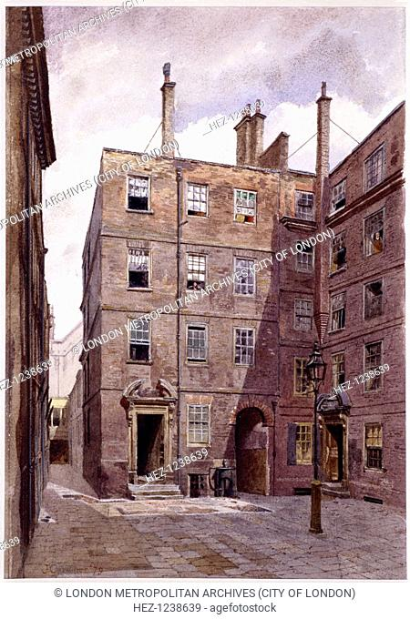 View of Elm Court, Inner Temple, London, 1879