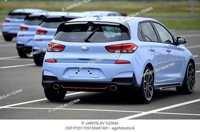 Launch of mass production of sports model Hyundai i30 N in Nosovice, Czech Republic, September 15, 2017. (CTK Photo/Jaroslav Ozana)