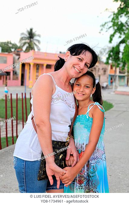 Happy with his granddaughter Lady, Moron, Ciego de Avila, Cuba