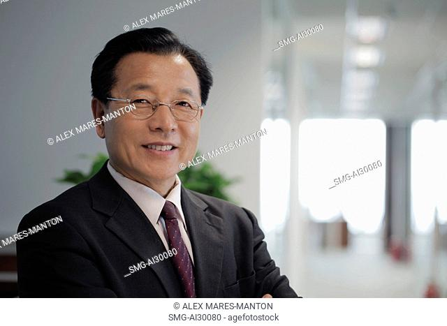 Head shot of man in business suit