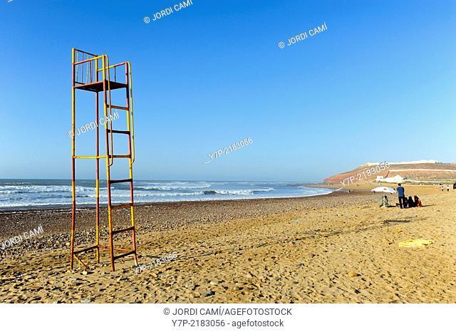 Life guard chair, Sidi Ifni beach. Morocco .North Africa