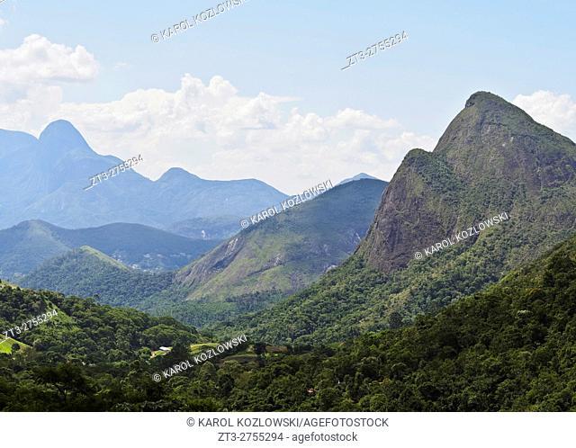 Brazil, State of Rio de Janeiro, Petropolis, View of the Serra dos Orgaos