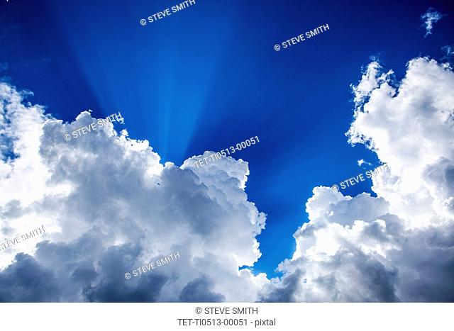 Sunshine and clouds in sky