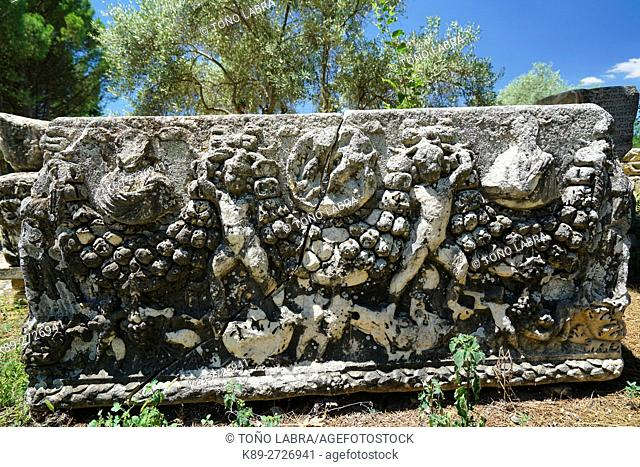 Sarcophagus with Garland (Early Roman Period). Aphrodisias. Ancient Greece. Asia Minor. Turkey