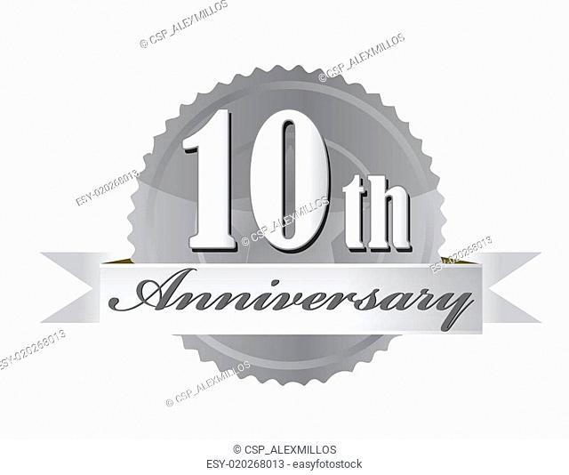 10th anniversary seal illustration