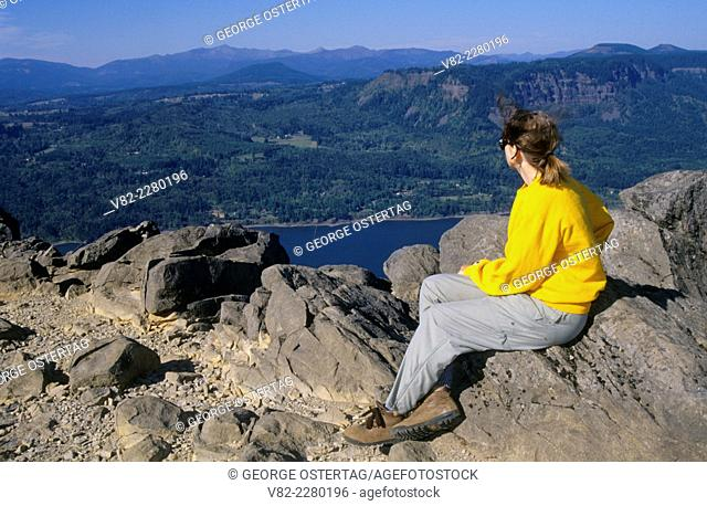 View from Angels Rest, Columbia River Gorge National Scenic Area, Mt Hood National Forest, Oregon