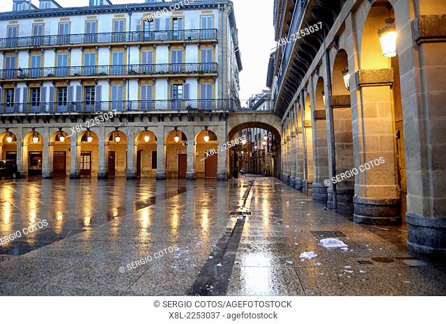 Plaza de la Constitucion, San Sebastian, Basque Country, Spain
