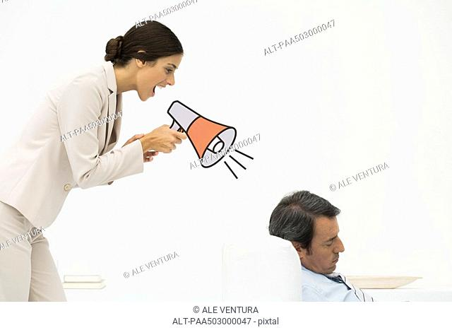 Businessman Slouching In Chair Stock Photos And Images Age
