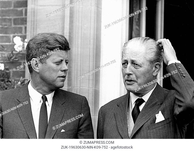 June 30, 1963 - Birch Grove, Sussex, U.K. - Born into a rich, politically connected Boston family JOHN F. KENNEDY was the youngest person elected U.S