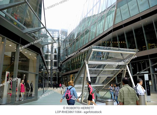 England, London, City of London. One New Change, a shopping and office development on Cheapside. The building was designed by Pritzker Prize-winning architect...