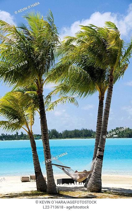 St Regis Resort. Bora-Bora. Islands in the Windward. Archipelago of Society Islands. Southern Pacific Ocean. French Polynesia