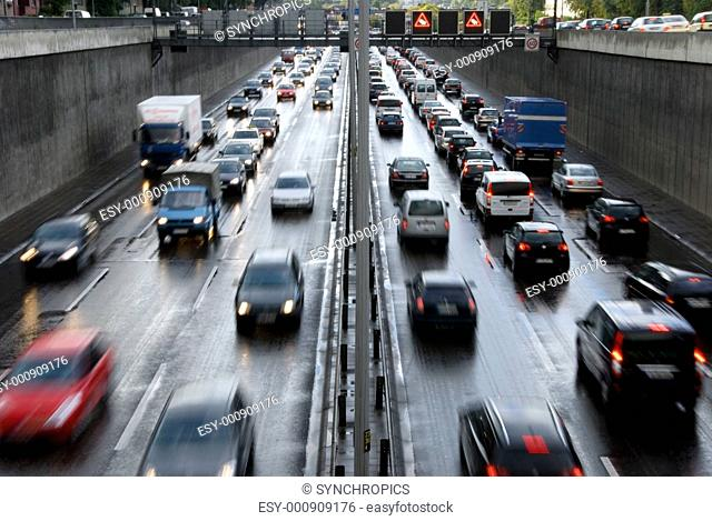 highway at rush hour in berlin