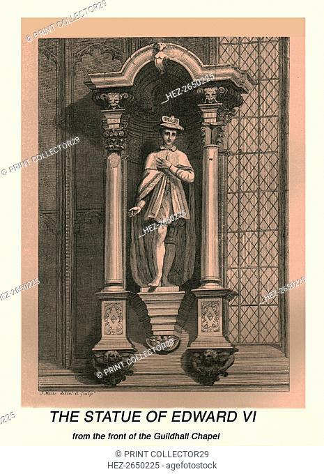The Statue of Edward VI, 1886. Artist: J Mills