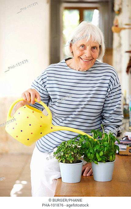 80 woman watering Stock Photos and Images | age fotostock