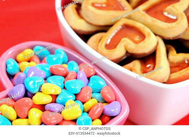cookie and love candies
